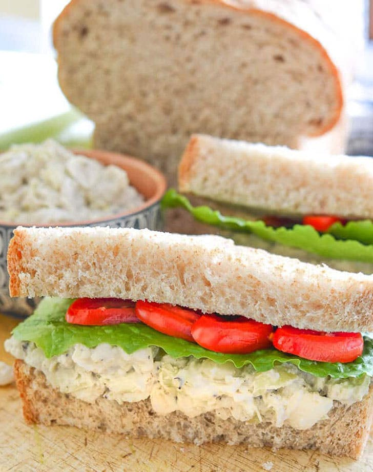 easy vegan artichokesandwich