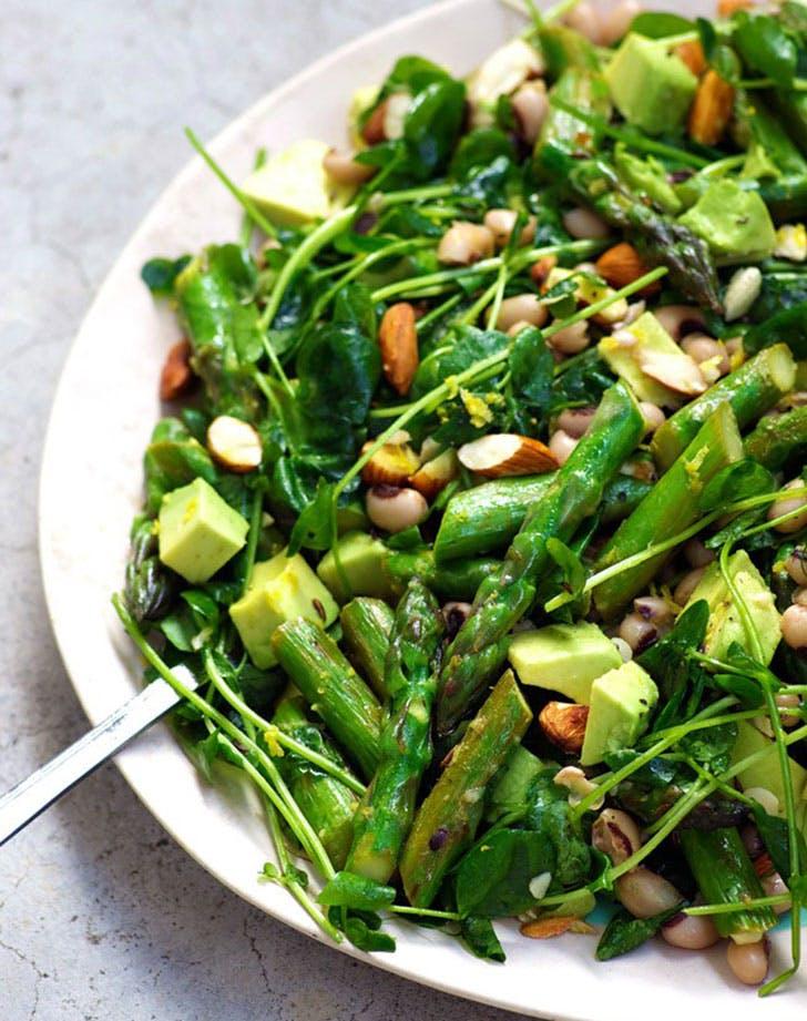 easy vegan asparagussalad