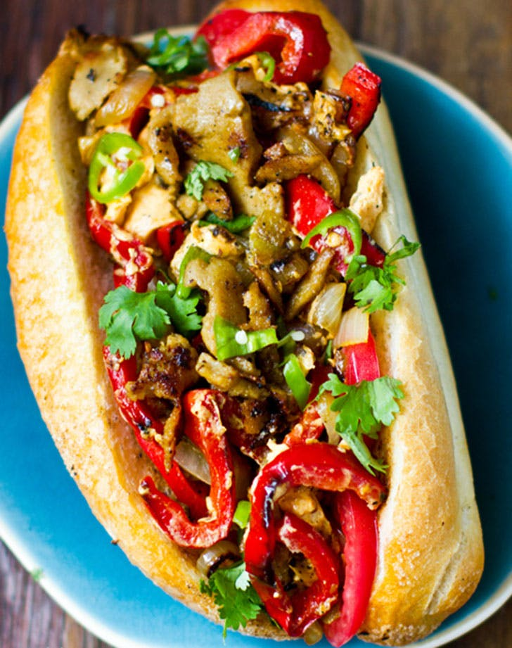 easy vegan cheesesteak