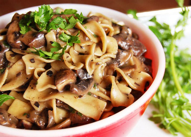 easy vegan stroganoff