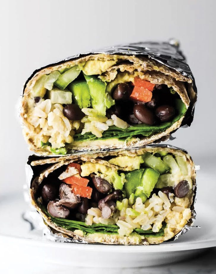 eat clean hummus wrap