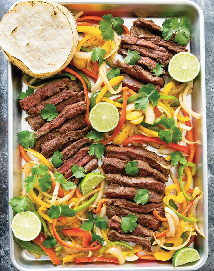 eat clean steak fajitas