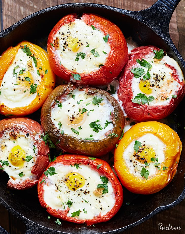 eggs baked in tomatos recipe LIST