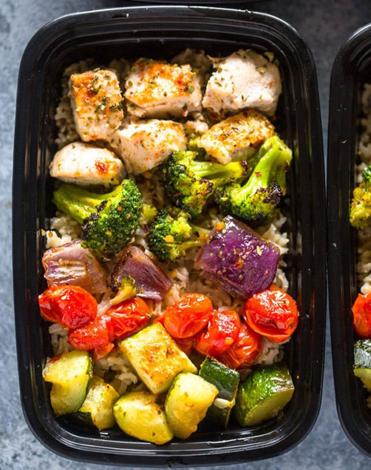 frozen chicken roastedveggies