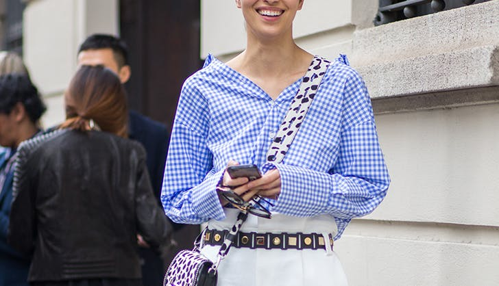 gingham statement top