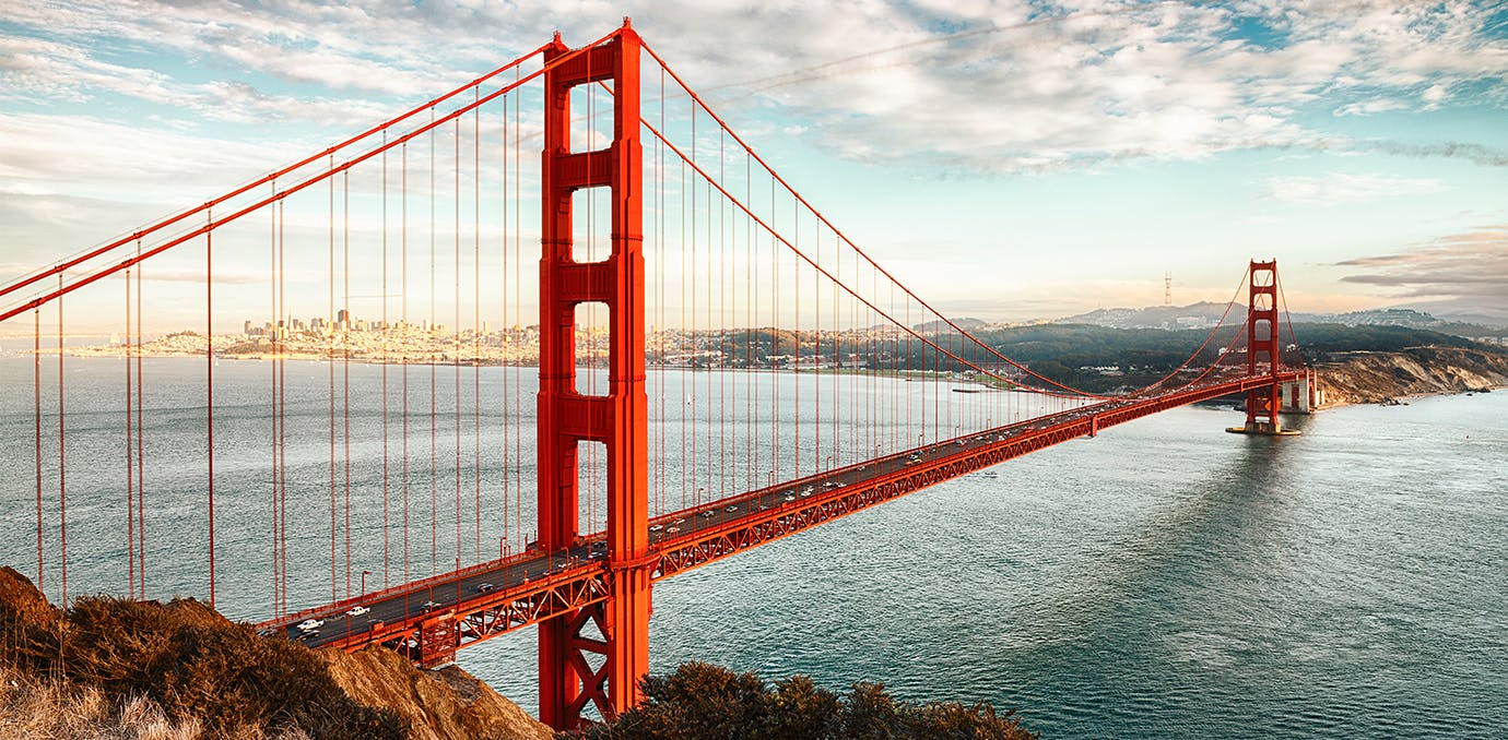 golden gate bridge selfie los angeles to san francisco weekend travel WIDE