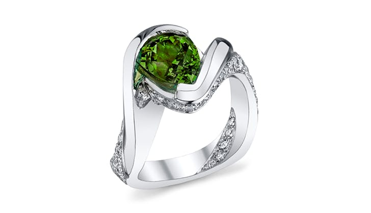 green mark schneider colorful engagement rings