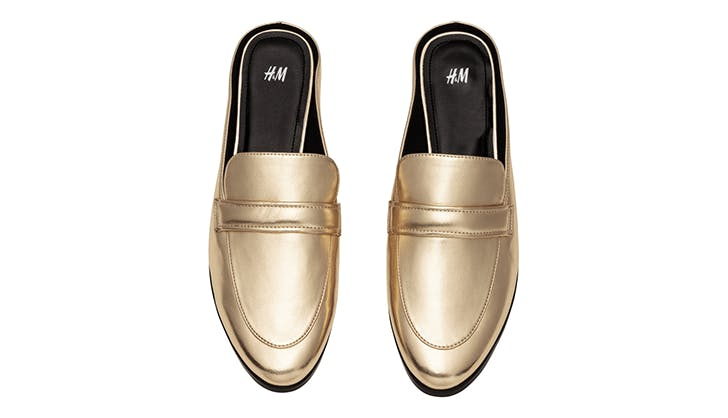 h m backless slides loafers spring shoes