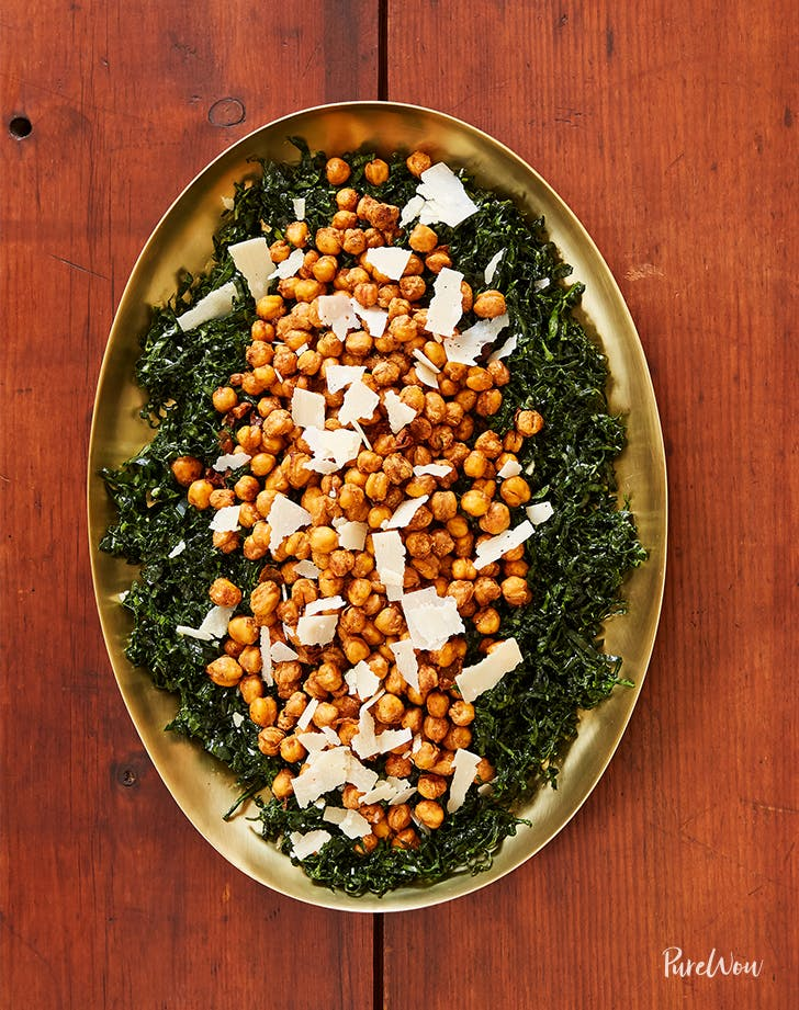 kale and crispy chickpea salad LIST