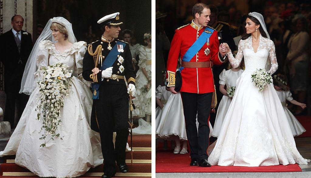 kate middleton look alike style princess diana royal wedding prince charles prince william