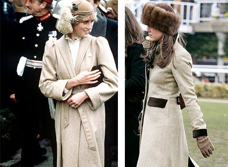 kate middleton princess diana look alike style beige