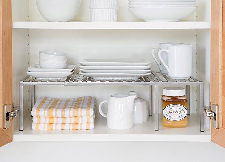 kitchen cabinet shelves organization NY