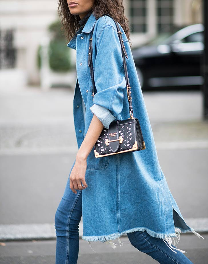 long denim jacket NY