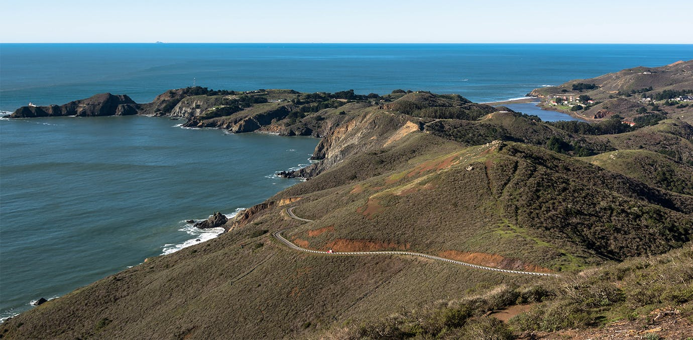 marin headlands rodeo beach los angeles to san francisco travel weekend WIDE