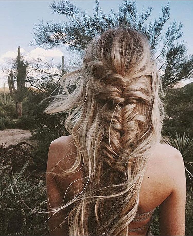 messy braids los angeles spring hair styles