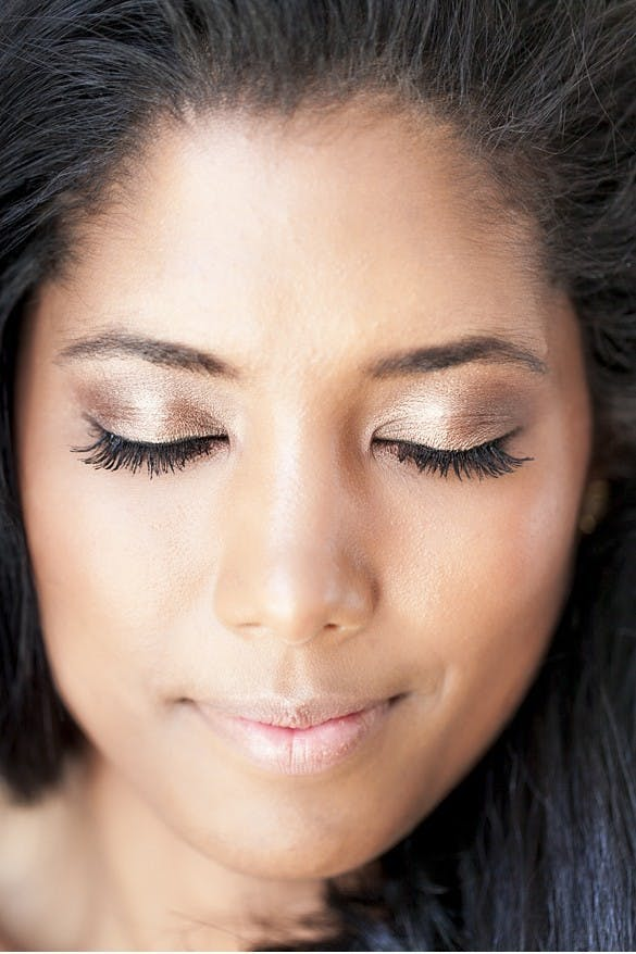 metallic smokey eye summer wedding beaut