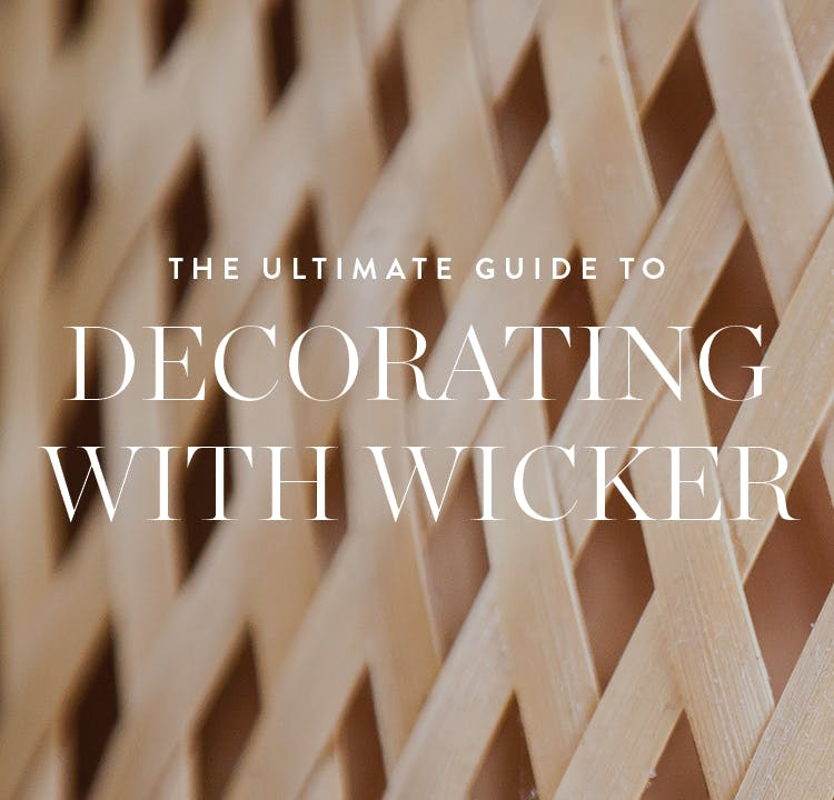 Ideas for Decorating with Wicker Furniture Indoors - PureWow
