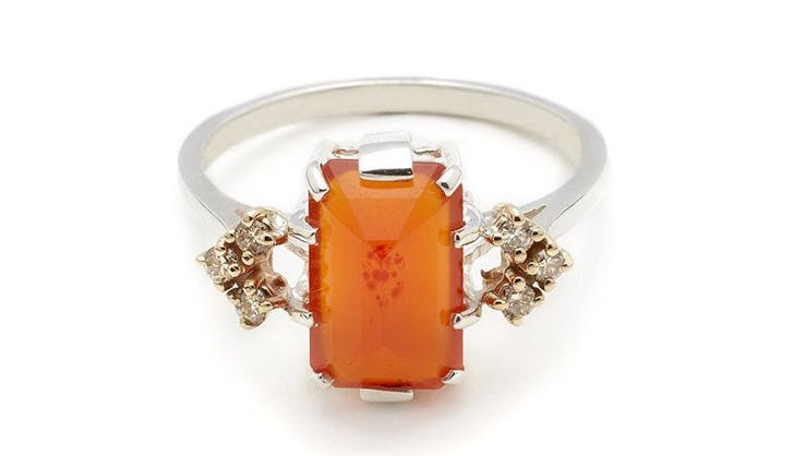orange anna sheffield colorful engagement rings