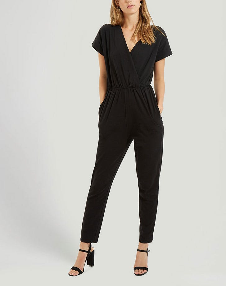 people tree oliana jumpsuit in black