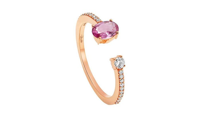 pink london jewelers colorful engagement rings