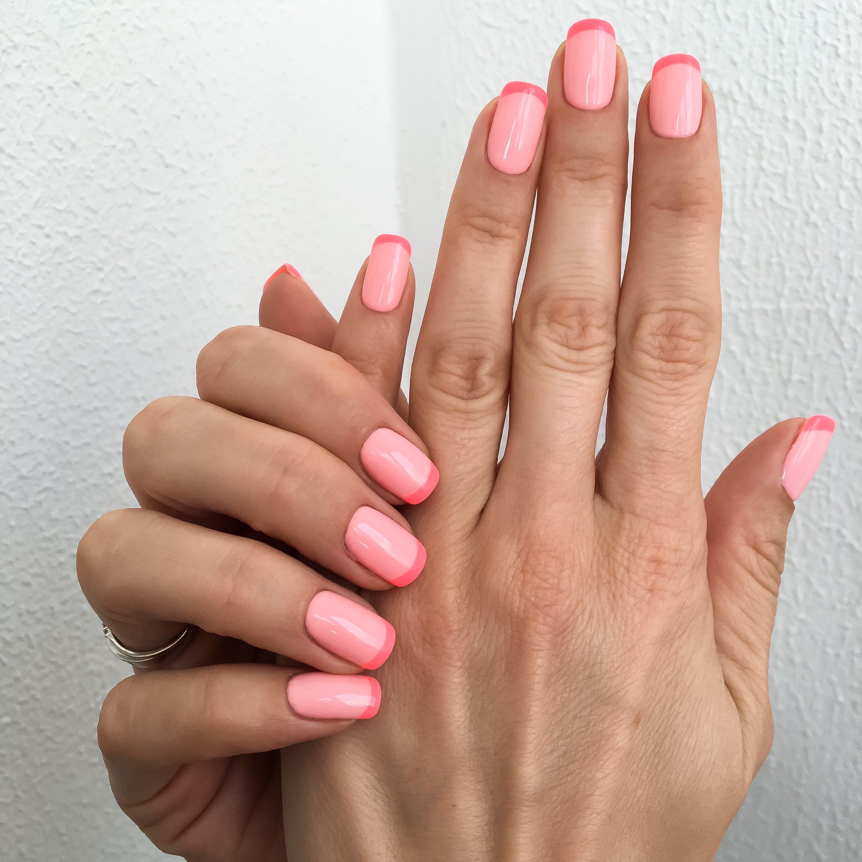 pink on pink miami spring nail art