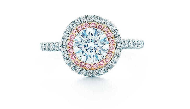 pink tiffany and co colorful engagement rings