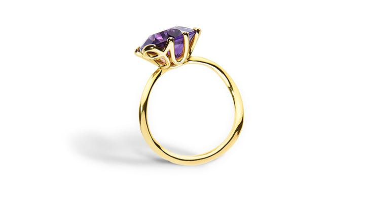 purple dior oui colorful engagement rings