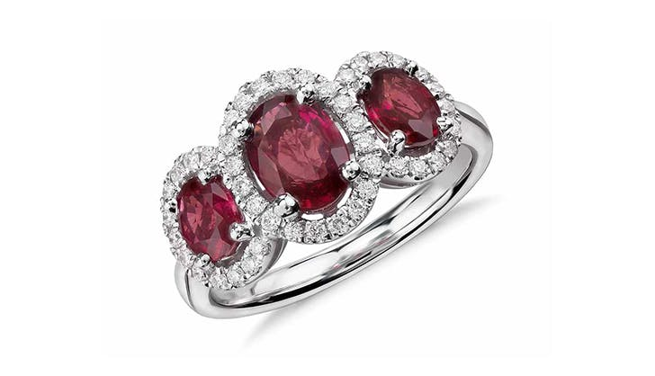 red blue nile colorful engagement rings