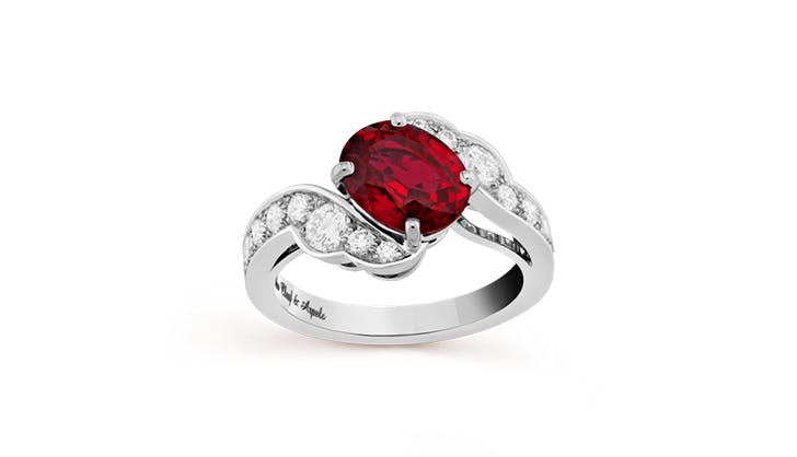 red van cleef and arpels colorful engagement rings