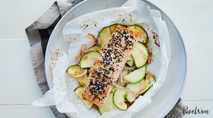 Baked Sesame-Ginger Salmon in Parchment