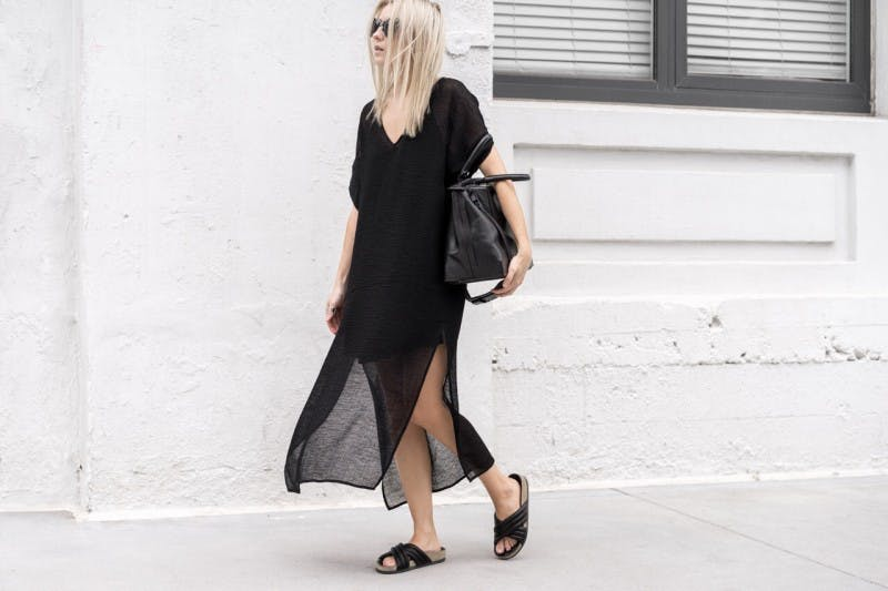 sheer dress figtny all black summer outfits