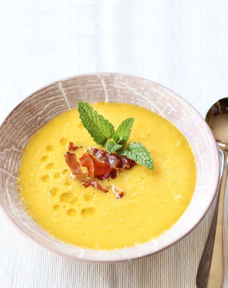 spring soup cantaloupegazpacho