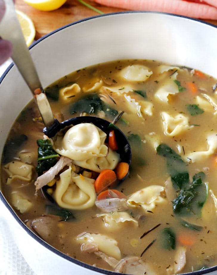spring soup lemontortellini