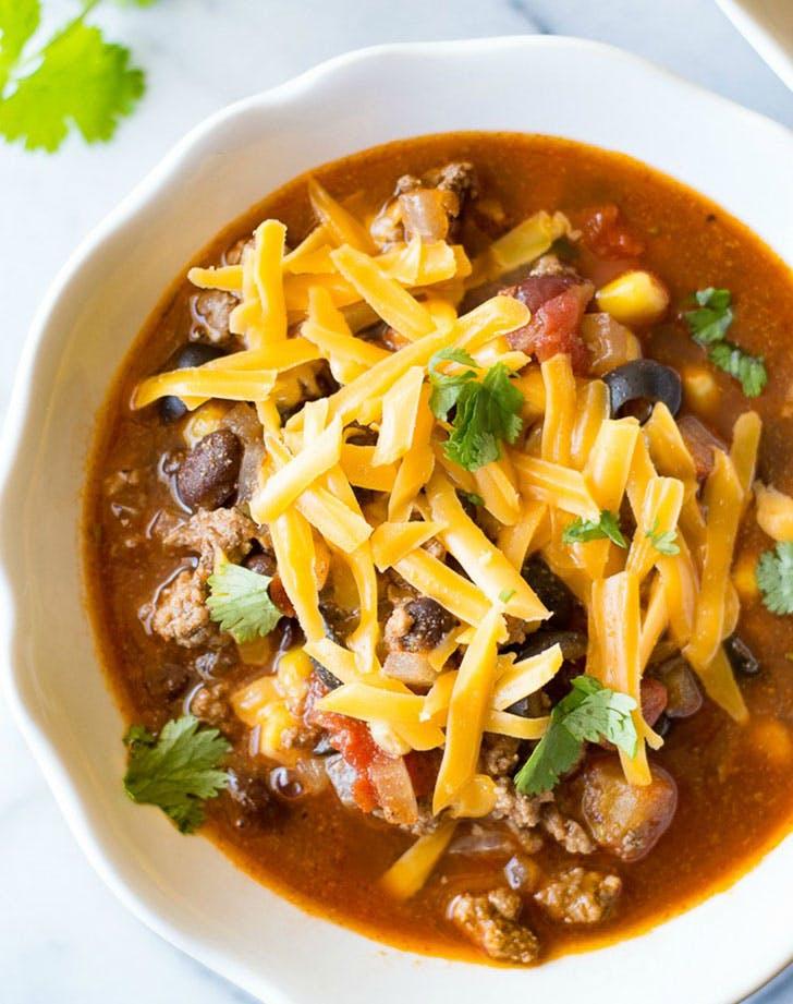 spring soup taco