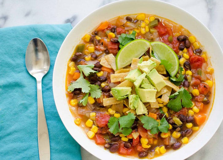 spring soup vegantortilla