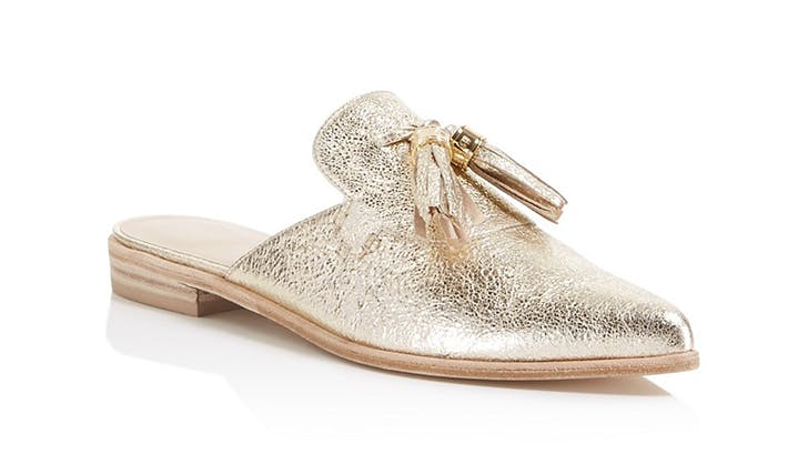 stuart weitzman backless slides loafers spring shoes
