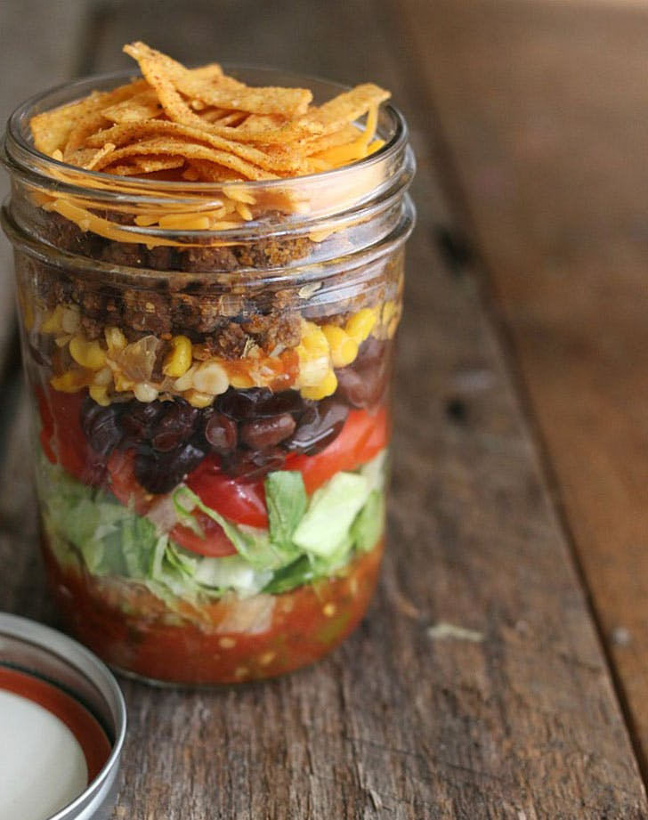 taco salad jar