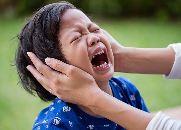 toddler tantrum  cant talk