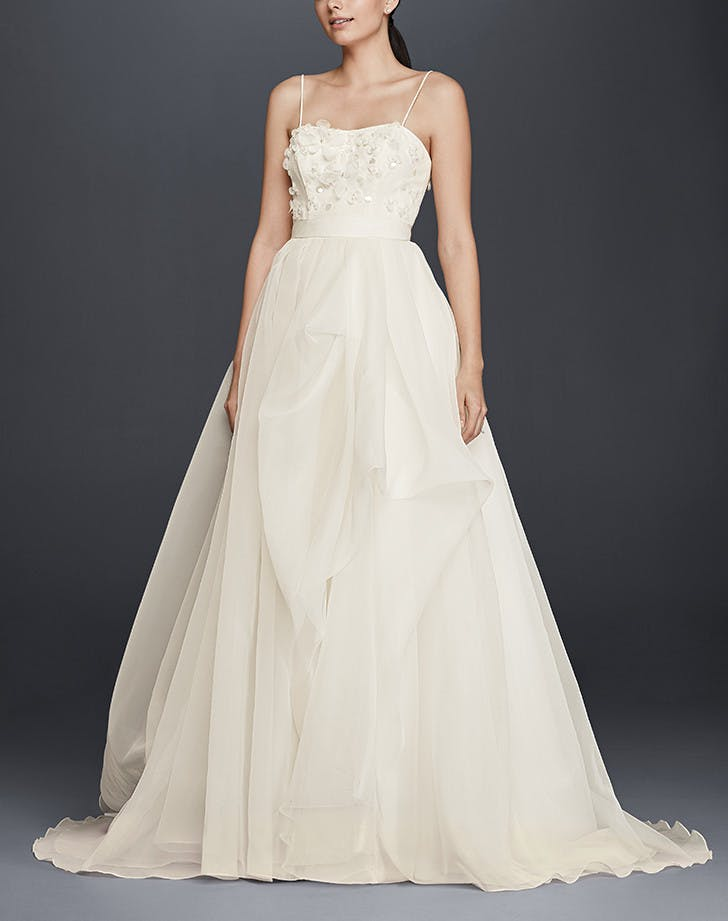 15 gorgeous wedding dresses under 500 purewow for Wedding dresses for 500 or less