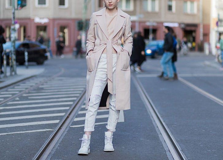 white jeans blush