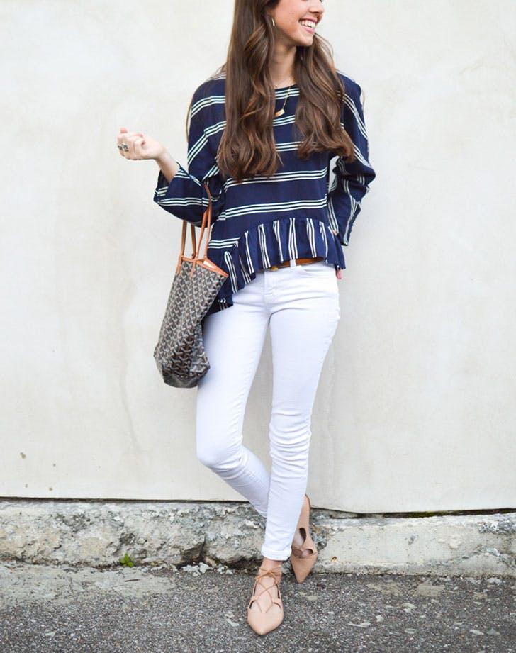 white jeans neutral