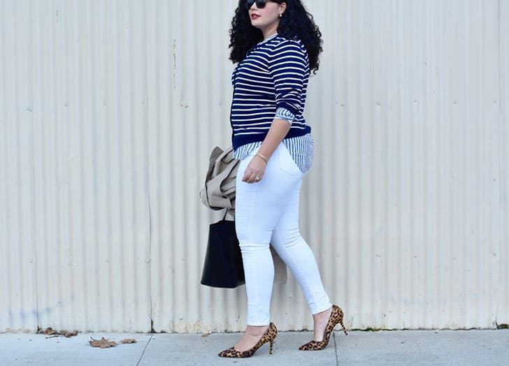 white jeans normal