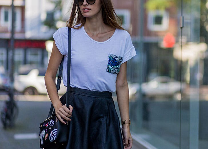 white tee pocket