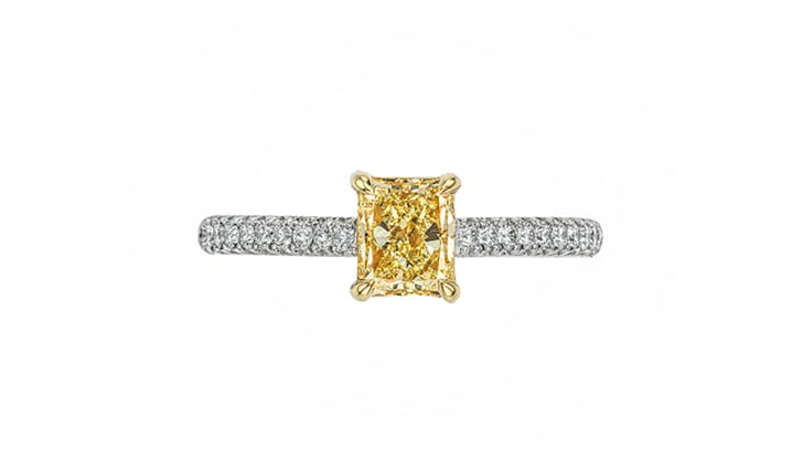 yellow forevermark colorful engagement rings