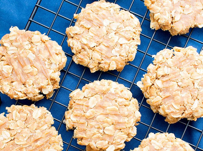 3 Ingredient No Bake Peanut Butter Oatmeal Cookies Gluten Free Vegan Dairy Free 3
