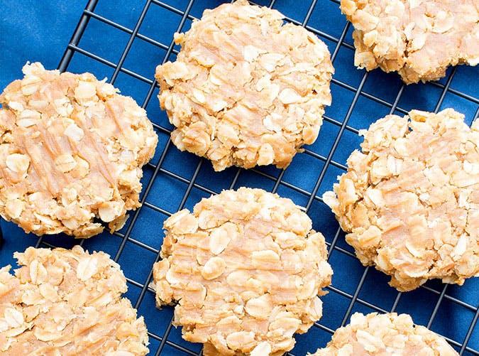 3 Ingredient No Bake Peanut Butter Oatmeal Cookies Gluten Free Vegan Dairy Free 3