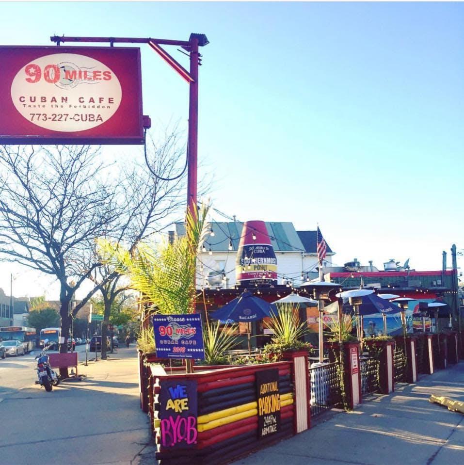 90 miles cuban cafe chicago patio restaurants