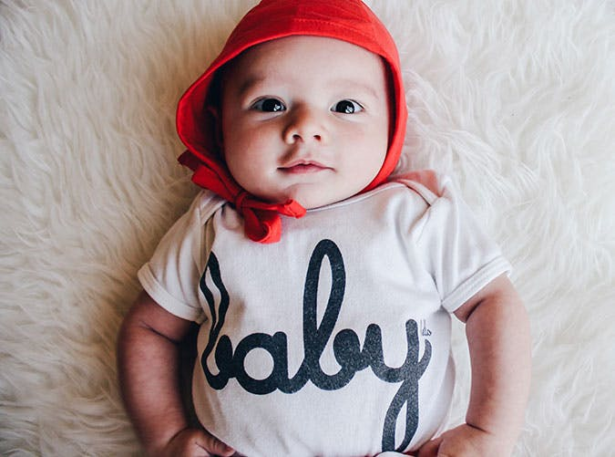 Baby with logo tshirt