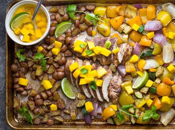Jamaican Chicken Sheet Pan Dinner 5012