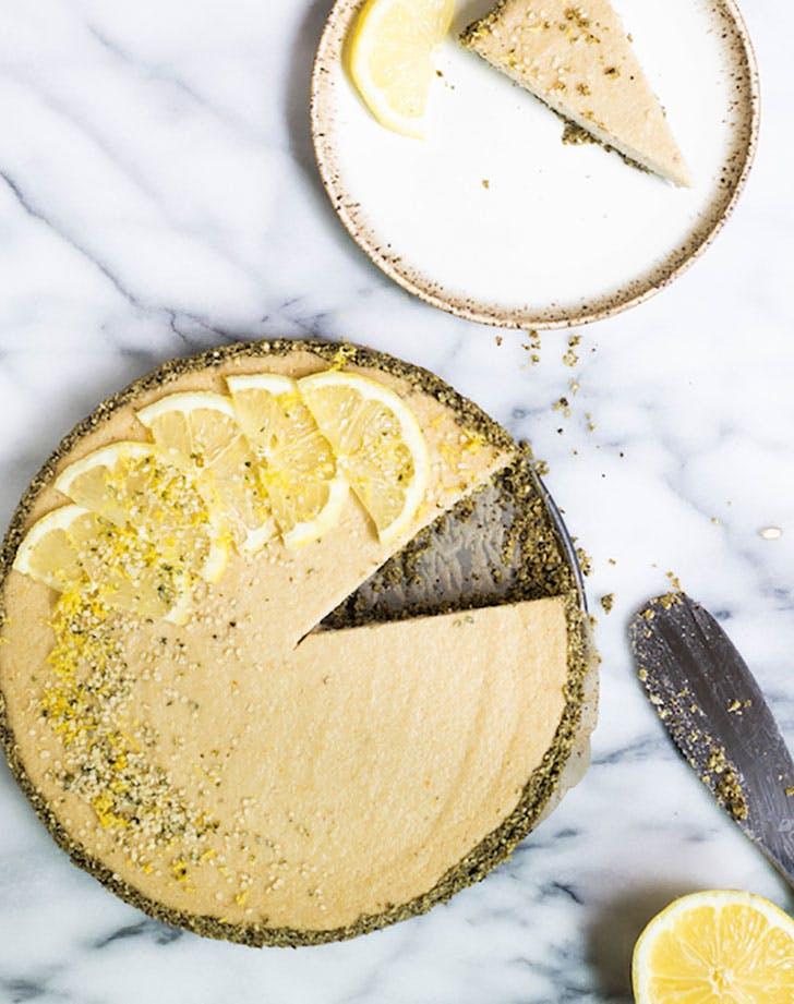 Lemon Hemp Vegan Cheesecake via Food by Mars